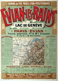 PLM - Evian-les-Bains - Lac de Genève - Paris- Evian - 1911 -