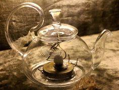 Items similar to Brain Brew- Glass Tea-Pot Assemblage Sculpture by Rainey J Dillon on Etsy Brewing, Tea Pots, Steampunk, Sculpture, Glass, Creative, Handmade, Etsy, Vintage