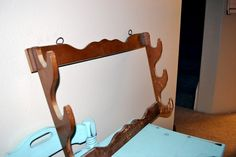 See what you can do with this thrift store gun rack. found on home talk