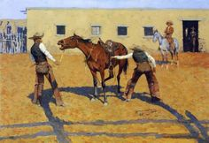 For just a little more than a print you can have a hand made reproduction of a painting of Frederic Remington.