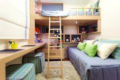 quartos com cama no alto