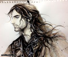 Kili in profile. Posted on Tumblr.com by evankart.