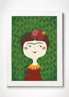 Poster Frida Kahlo - Meu Adorável Iglu