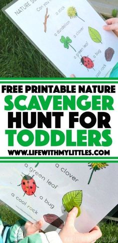 Love this simple, free, printable nature scavenger hunt for toddlers! It's easy and perfect for little learners who want to explore. The perfect outdoor activity for toddlers! Toddler Scavenger Hunt, Backyard Scavenger Hunts, Camping Scavenger Hunts, Preschool Scavenger Hunt, Nature Scavenger Hunts, Camping Games, Preschool Binder, Camping Theme, Outdoor Activities For Toddlers