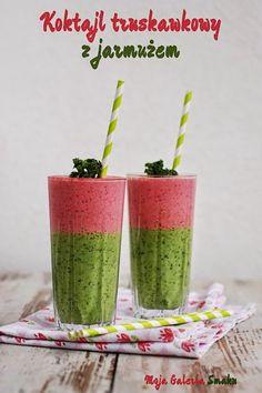 Zielonym koktajli nigdy nie za wiele :) a ponieważ tęsknie już za latem to dodałam jeszcze warstwę różową - truskawkową. Bazą do warstw...