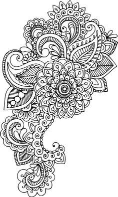 SVGS for Geeks! floral mandala - Cricut - SVGS for Geeks! Abstract Coloring Pages, Mandala Coloring Pages, Coloring Book Pages, Paisley Coloring Pages, Henna Drawings, Easy Drawings, Atrapasueños Tattoo, Dibujos Zentangle Art, Henna Tattoo Designs