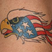 eagle american flag tattoo