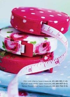 Pink tape measures