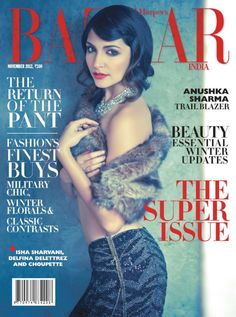 Cover - Best Cover Magazine - Harper's Bazaar India, November Anushka Sharma on the Magazine Cover. Best Cover Magazine : – Picture : – Description Harper's Bazaar India, November Anushka Sharma on the Magazine Cover. -Read More – Bollywood Actress Hot Photos, Bollywood Celebrities, Bollywood Actors, Anushka Sharma, Military Chic, Actress Anushka, Hair Magazine, Fashion Cover, Winter Chic