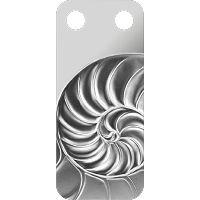 .999 Fine Silver Swiss Nautilus Ingot Pendant