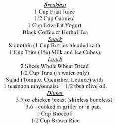 1200 calorieën per dag menu