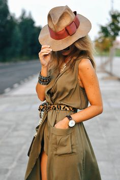 Safari Outfit Women, Safari Outfits, Casual Outfits, Summer Outfits, Fashion Outfits, Womens Fashion, Safari Chic, Looks Street Style, Ibiza Fashion