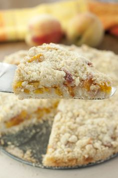 Italian Peach Crumb Cake recipe is a quick, easy dessert made with fresh peaches.