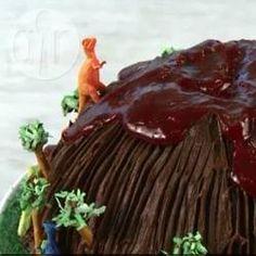 Rezeptbild: Jurassic Park Vulkan Kuchen (Dinosaurierkuchen)