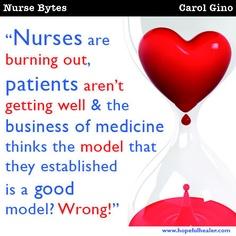 #nursebytes #carolgino #nurse #nursing #burnout #hopefulhealer