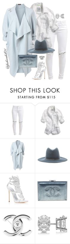 Baby I'm Blue by fashionkill21 on Polyvore featuring American Eagle Outfitters, Phase Eight, FiveUnits, Giuseppe Zanotti, Chanel, Allurez and Janessa Leone