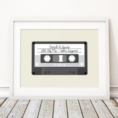 Retro Wedding Present, Unique Wedding Gift For Couple, Wedding Gift Ideas, Personalised Print Mix Tape Cassette Song - 'Tape' (Unframed) Wedding Anniversary Presents, Unique Anniversary Gifts, Paper Anniversary, Custom Wedding Gifts, Wedding Gifts For Couples, Personalized Wedding, Happy Couples, Couple Presents, Couple Gifts