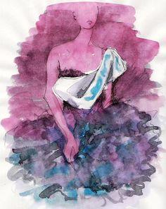 fashion illustration: boceto
