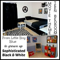 Creating A Teens Black & White Movie Themed Bedroom