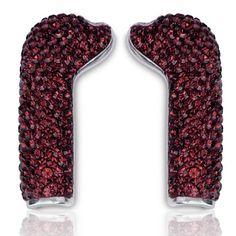 Full Crystal BURGUNDY Earphone Covers w/ DEOS earphones from Deos