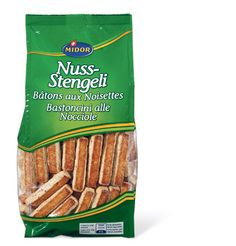 Nuss-Stengeli - these are incredibly hard nut biscuits.