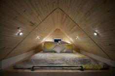 tiny house loft bedroom by geisharobot