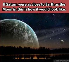 If Saturn was close to Earth…