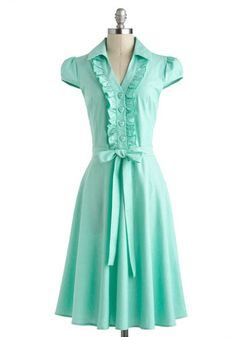 About the Artist Dress in Mint, #ModCloth