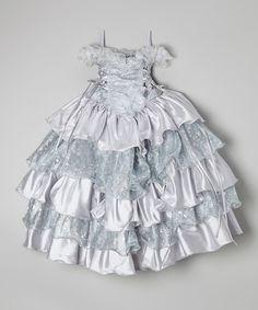 Look what I found on #zulily! Silver Ivy Tiered Ruffle Princess Dress - Toddler & Girls #zulilyfinds