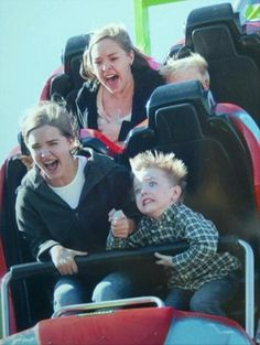 funny people on rollercoasters