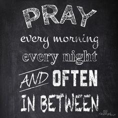 When should we pray?