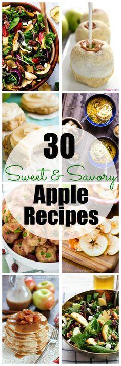 Enjoy apple season with these 30 Sweet & Savory Apple Recipes!