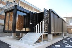 Container House - コンテナハウス もっと見る - Who Else Wants Simple Step-By-Step Plans To Design And Build A Container Home From Scratch? Shipping Container Buildings, Cargo Container Homes, Shipping Container Home Designs, Container Shop, Building A Container Home, Container House Plans, Shipping Containers, Shipping Container Office, Casas Containers