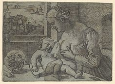 century - Nikolaus Wilborn (German, active ca. The Virgin and Child with the Skull (copy After Barthel Beham) History Essay, Art History, Marriage Images, 16th Century Fashion, Engraving Printing, Landsknecht, Maker Culture, German Women, Classic Image
