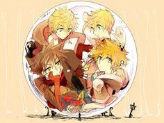 No cloud, no squall shall hinder us.: Foto tumblr Kingdom Hearts Sora, Roxas, Ventus, Vanitas