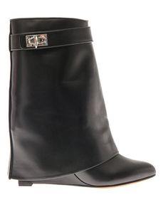 Givenchy Shark Lock leather ankle boots on shopstyle.com
