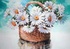 [꽃정물수채화] 꽃바구니 - 수채화 과정 (아르쉬. Rough) : 네이버 블로그 Watercolor Flowers, Watercolor Paintings, Plants, Garden, Garten, Watercolors, Planters, Gardening, Outdoor