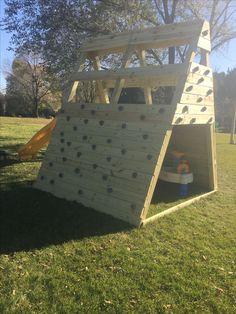 Playground Pyramid Climbing Wall Side View