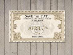 Hochzeit Einladung Harry Potter-Save Datei von SophiesLoveBirds