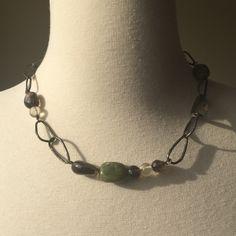 Silpada necklace Made of jade, citrine, smokey Quartz and 925 silver. Great condition Silpada Jewelry Necklaces