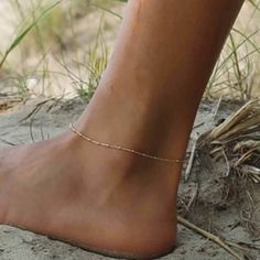 Anklet Jewelry Women Gold Plated Delicate Foot Chain Anklet Barefoot Beach Ankle Bracelet - Condition: brand new and high quality Material: Gold plated/Silver plated Solor: Gold or Silver Length: 22 Gender: women Quantity: 1 pcs anklet Ship from USA Cute Jewelry, Body Jewelry, Jewelry Sets, Accessories Jewellery, Accessories Online, Gold Anklet, Anklet Jewelry, Women's Anklets, Bridal Jewelry