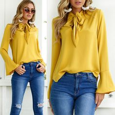Fashion Ladies Casual Tops T-Shirt Women Summer Loose Top Long Sleeve Blouse | Clothing, Shoes & Accessories, Women's Clothing, Tops & Blouses | eBay!