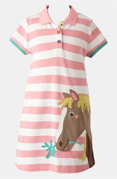 Mini Boden 'Fun' Appliqué Polo Dress (Toddler, Little Girls & Big Girls) available at #Nordstrom