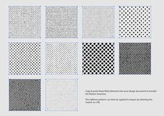 10 Distressed Vector Halftone Patterns for Illustrator http://blog.spoongraphics.co.uk/freebies/10-distressed-vector-halftone-patterns-for-illustrator