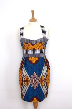 African Print Tulip Dress. #Africanfashion #AfricanWeddings #Africanprints #Ethnicprints #Africanwomen #africanTradition #AfricanArt #AfricanStyle #Kitenge #AfricanBeads #Gele #Kente #Ankara #Nigerianfashion #Ghanaianfashion #Kenyanfashion #Burundifashion #senegalesefashion #Swahilifashion ~DK