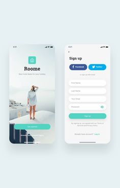 Roome Hotel Booking App UI Kit is a pack of delicate UI design screen templates that will help you to design clear interfaces for hotel booking app faster and easier. Compatible with Sketch App, Figma & Adobe XD Login Page Design, App Ui Design, Best App Design, Design Layouts, Interface Design, Flat Design, User Interface, Design Design, Mobile Login