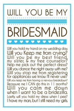 Would love to send this when I ask my wedding party <3
