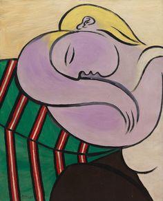 Collection Online   Pablo Picasso. Woman with Yellow Hair (Femme aux cheveux jaunes). Paris, December 1931 - Guggenheim Museum