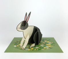 Alice Melvin Greetings Card Rabbit Pop Out Pet Pop Out, Message Card, Silk Screen Printing, British Library, Love Cards, Craft Items, Weekend Is Over, Biodegradable Products, Printmaking
