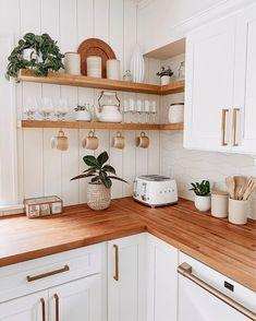 Kitchen Room Design, Home Decor Kitchen, Interior Design Kitchen, New Kitchen, Home Kitchens, Diy Home Decor, Cozy Kitchen, Cuisines Design, Kitchen Organization